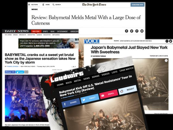 NY各紙、Babymetalを絶賛!